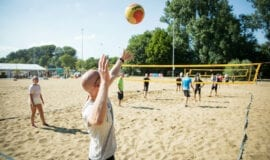 Beachvolleyball zeskamp Amsterdam